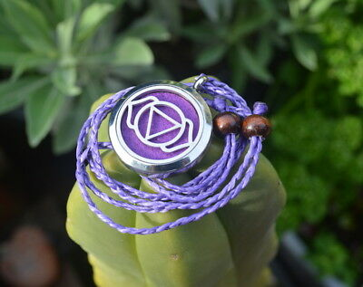 Ajna Third Eye Chakra aromatherapy necklace, diffuser, essential oils,yoga,reiki