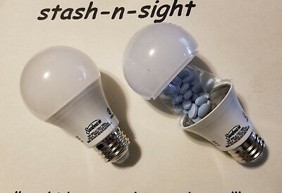 STASH CAN Light Bulb DIVERSION SAFE HIDDEN HIDE MONEY JEWELRY CASH SAFES MONEY