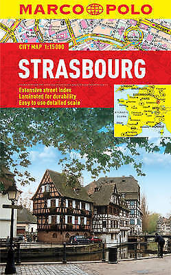 Strasbourg City Map - New - Marco Polo - Laminated - Pocket - Waterproof