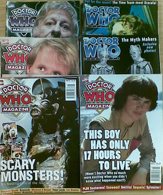 DOCTOR WHO MAGAZINE :  ISSUES 261 to 351 - MANY ISSUES AVAILABLE -    £3.00 EACH