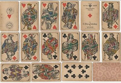 ♥ ♥ ♥ Antique Titze & Schinkay Wien Playing Cards Patience Austria ♥ ♥ ♥