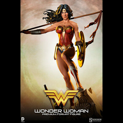 SIDESHOW Wonder Woman Premium Format Figure Gal Gadot Statue NEW SEALED