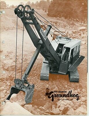 1962 Vol 35 no 4 Marion Power Shovel The Groundhog Magazine