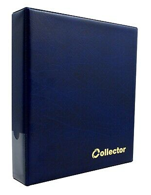 Collector Coin Album IN CASE - THICK for 200 Medium Coins 50p £1 £2 BLUE