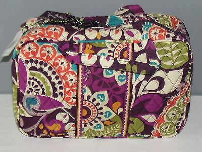Vera Bradley Plum Crazy Grand Cosmetic New With Tags FREE SHIPPING
