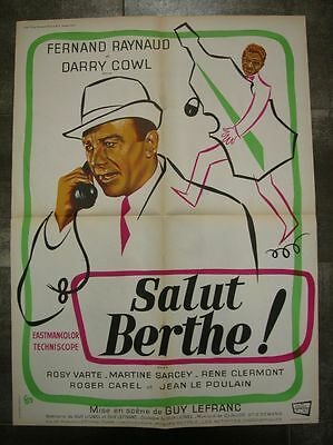 SALUT BERTHE ! F. Raynaud D. Cowl 1968 Affiche Originale 60x80 Movie Poster