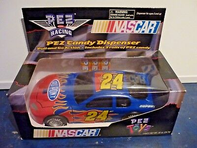 Pez Nascar Racing Car Dispencer Pull and go action #24