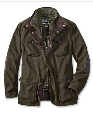 NEW! Barbour for J.Crew Ogston Jacket in Olive Waxed Cotton [Size LARGE] RARE!!!