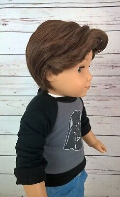 10-11 Custom BOY Doll Wig fit Blythe-American Girl-1/4 Size CLUBHOUSE BROWN bin1