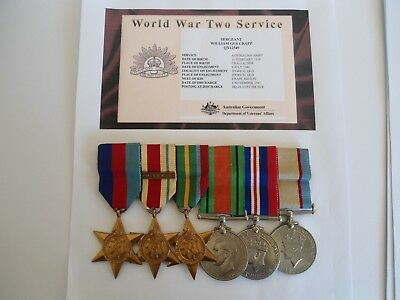 Ww2 Medal Group Of 6 Australian Medals