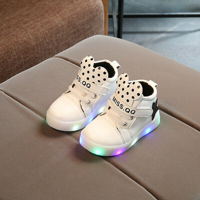 Kids Boys Girls Light Up LED Luminous Shoes Sneakers Sport casual Running Comfy
