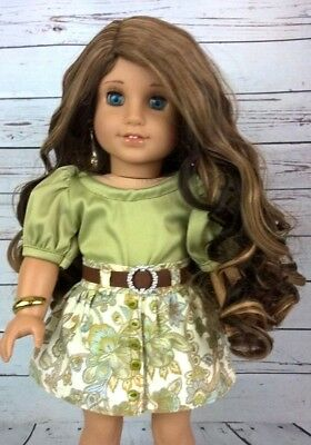 10-11 Custom Doll Wig fit Blythe-American Girl-1/4 Size Doll HOT TOFFEE bn1