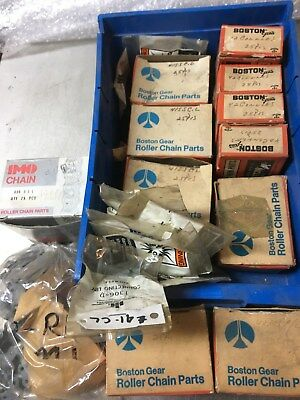 Boston Gear & Other Roller Chain Connector Links -Huge Lot, All Sizes Mixed- Nos