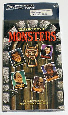 Classic Movie Monster Book of 20 Pre-stamped (20c) Postcards USPS 1997 NEW/MINT