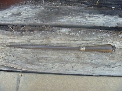 ANTIQUE  BUTCHERS KNIFE SHARPENING STEEL - fat belly