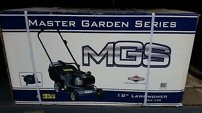 new lawnmower MGS 550 18'' Briggs Stratton  4 stroke petrol engine still in box