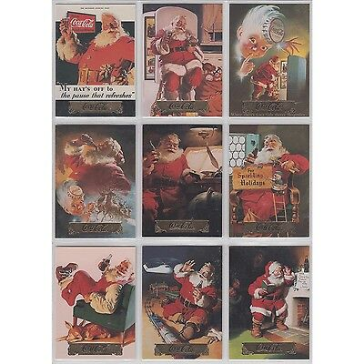 Coca Cola Coke Collect A Card Series 1 Santa Set of 10 S1 - S10 Foil Stamp