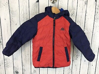 Kids Snozu Down Hooded Jacket Size 3T Red and Blue Very Warm!