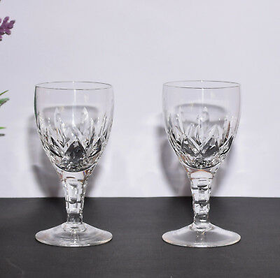 Pair of Stuart Crystal England CARLINGFORD Sherry Glasses