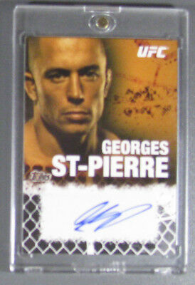 TOPPS UFC 2010 GEORGES ST PIERRE AUTO ONYX 75/88 NM-MT | 2 DIVISION 3x CHAMPION