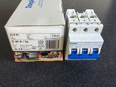 Doepke Circuit-breakers, three-pole, Characteristic D, 40 A, 10 kA, f