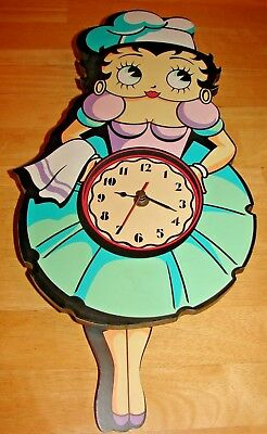 Betty Boop Waitress Wooden Kitchen Wall Clock By Vando Dated 1995 Betty Boop