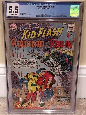 Brave And The Bold #54 CGC 5.5 OW Pages!  1st Teen Titans!