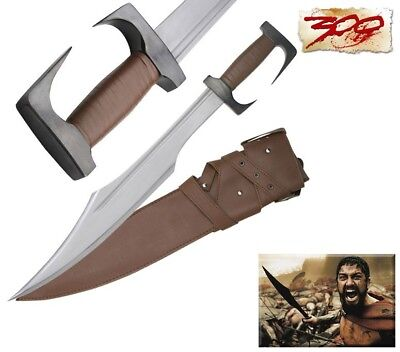 "300 Spartan Sword Silver Blade 28.8""  with Heavy Duty Leather Sheath"