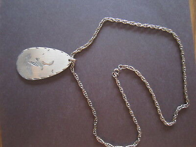 "Genuine Pewter24"" Necklace w/ Seagull"
