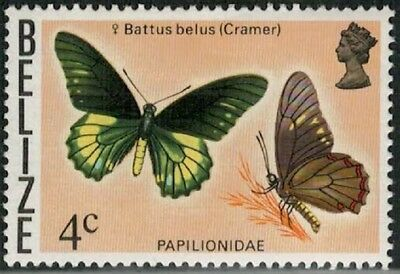 Lot 4763 - Belize - 1974 4c Butterfly mint hinged definitive stamp