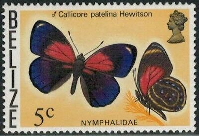 Lot 4764 - Belize - 1974 5c Butterfly mint hinged definitive stamp