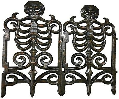 home accents halloween props skeleton fence 30 in victorian rust