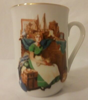 Norman Rockwell Mug Dreams In The Antique Shop Certified Authentic 1986