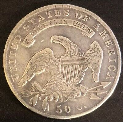 1836 50C Lettered Edge Capped Bust Half Dollar