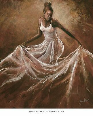 Print 16x12 Chilling by Monica Stewart African American Art