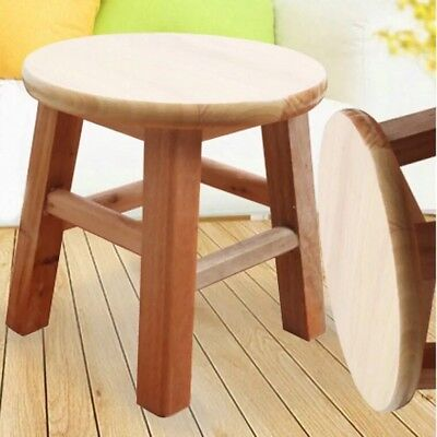 Children Wooden Stool Chair Hard Timber Wood Strong And Solid Suit Kids & Adult