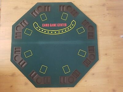 Octagonal Poker Table Top & Dice-Striped Chips Set with Aluminum Case
