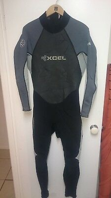 Men's Xcel 3:2 Mm Full Wetsuit Size Xl Icon Surf Surfing All Season Ex Cond.