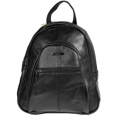 Ladies Girls Leather Grained Small Light Weight Shoulder Backpack Rucksack