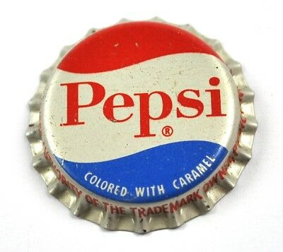 Vintage Pepsi Cola USA Kronkorken Korkdichtung Bottle Cap Colored with Caramel