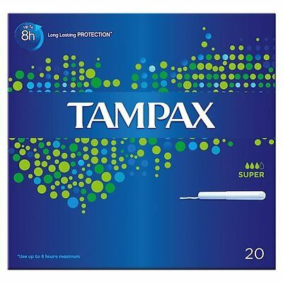 TAMPAX carton Application Super - 20 TAMPONS