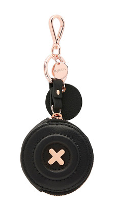 Mimco Daydream Keyring Black Rose Gold Tone Coin NEW with TAG Authentic RRP89.95