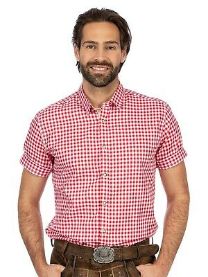 Stockerpoint Traditional Shirt Vichykaro short Sleeve Connor Red