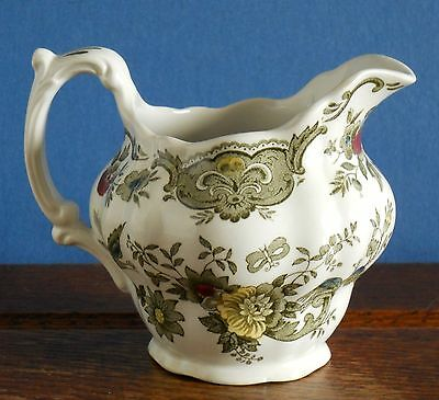 A Ridgway's Windsor Milk Jug / Creamer- hand coloured green transfer