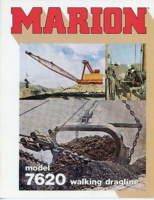 Marion Power Shovel  Model 7620 Walking Dragline Sales Brochure