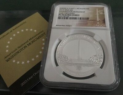 NGC PF70 Proof ULTRA CAMEO AMERICA'S NATIONAL MONUMENTS Washington Monument