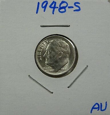1948-S Roosevelt Dime   AU - Low Shipping