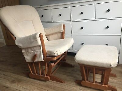 Dutailier gliding/ rocking chair and foot stool, nursing chair
