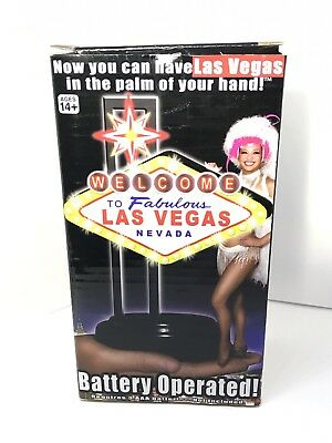 """Welcome to Fabulous Las Vegas Nevada Souvenir LED 8 1/8"""" Sign Battery Operated"""