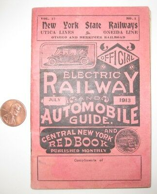 Electric Railway and Auto Guide 1913 New York State Railways Utica Oneida Lines